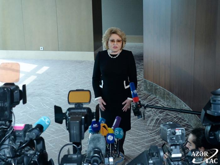 Walentina Matwijenko:   Die russisch-aserbaidschanischen Beziehungen entwickeln sich in allen Bereichen dynamisch