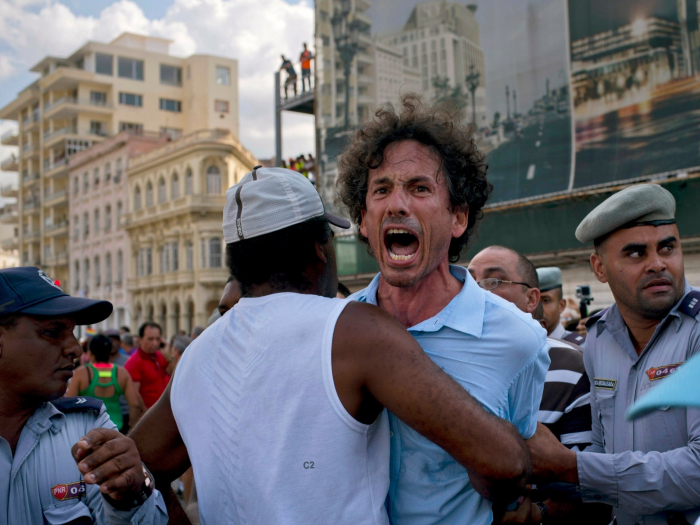 LGBT+ activists arrested at unauthorised pride march in Cuba