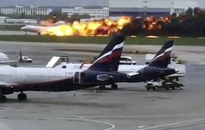 41 people died   in plane fire at Sheremetyevo Airport, Moscow