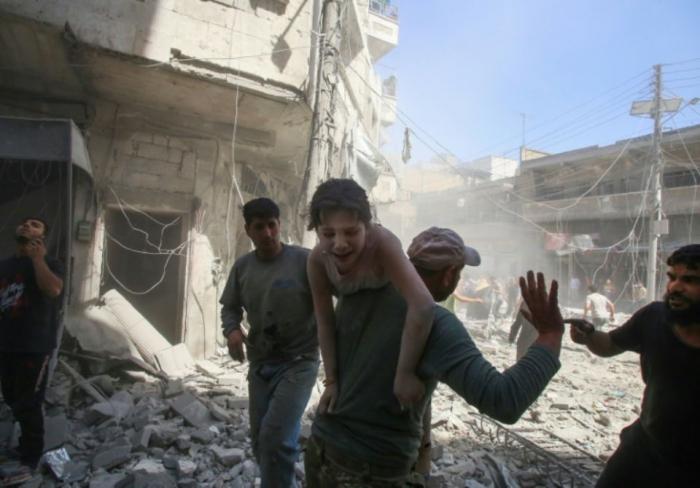Raids du régime syrien sur la province d