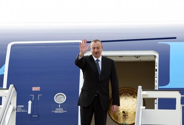 Ilham Aliyev a terminé sa visite en Belgique