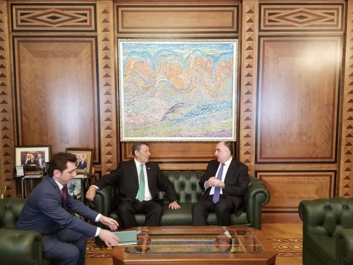 Azerbaijani FM meets Uruguayan counterpart