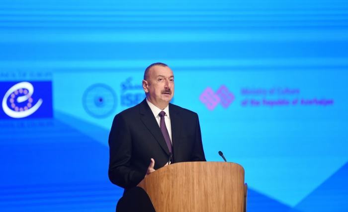 President Ilham Aliyev makes speech at5th World Forum on Intercultural Dialogue