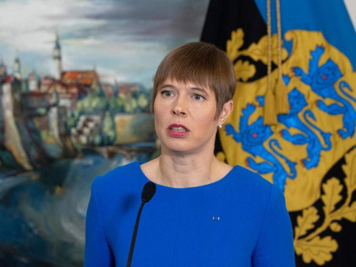 Estonia's first female president dismissed as 'emotionally upset'