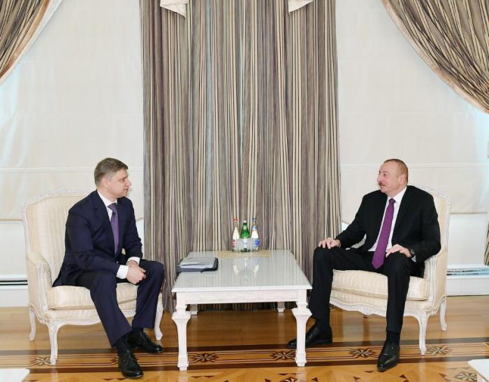 Prezident Oleq Belozyorovu qəbul edib - Yenilənib