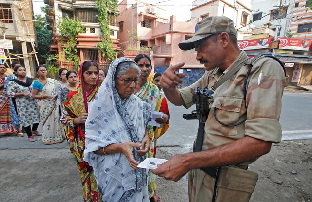 Indians vote in fifth phase of election; violence in Kashmir