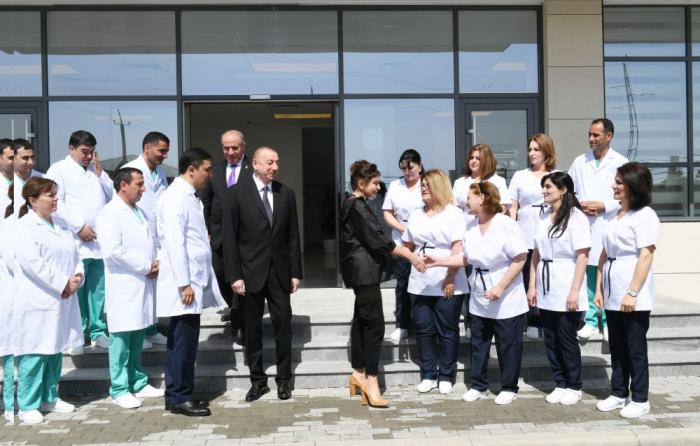 Qobustan Rayon Mərkəzi Xəstəxanasının açılışı olub - Yenilənib (FOTOLAR)
