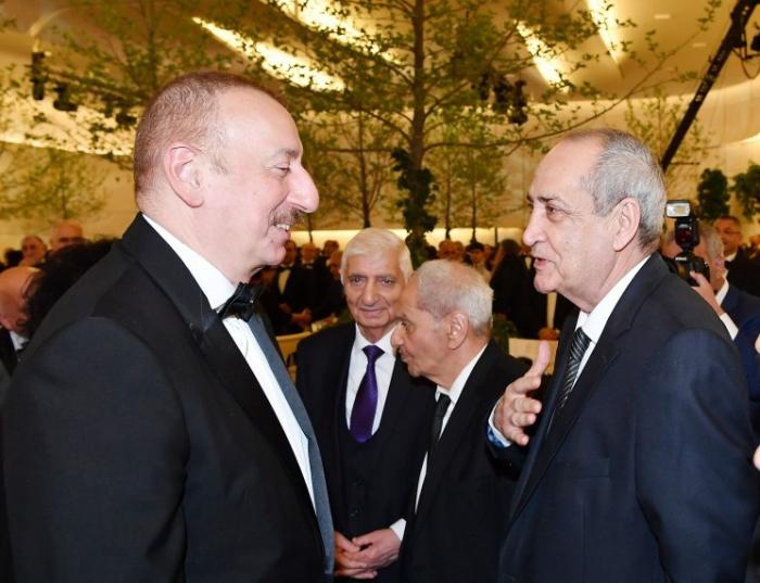 Prezident və xanımı Rasim Balayevlə görüşüb - FOTO