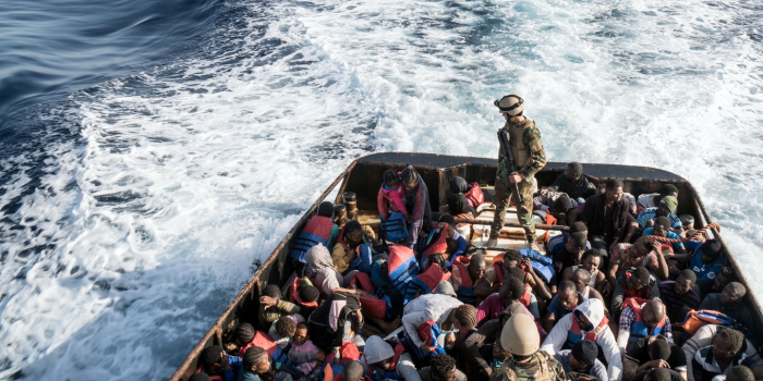 Libyan navy rescues 147 illegal immigrants off western coast