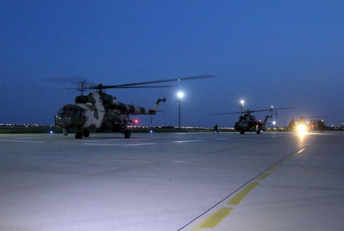 Azerbaijani military helicopters in Turkey to take part in int'l exercises