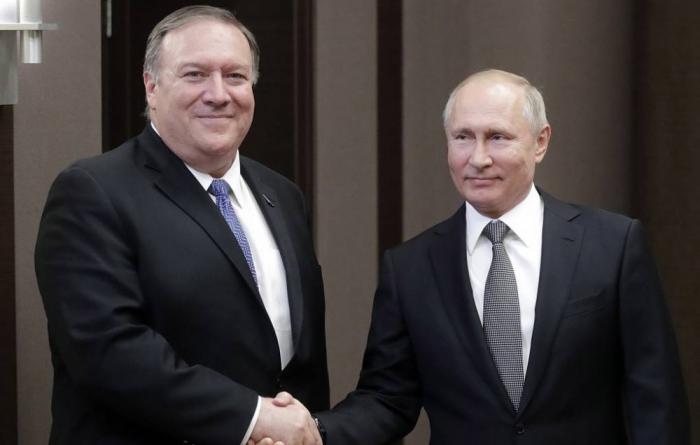 Soçidə Putinlə Pompeo arasında kritik görüş