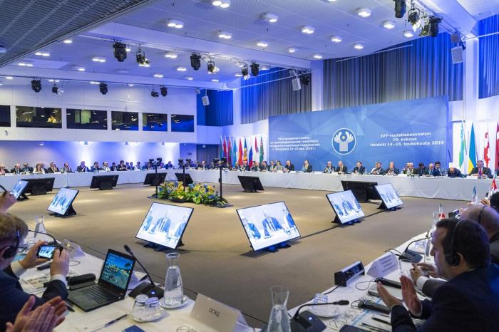 Delegación azerbaiyana asiste a la 70ª reunión del Consejo de Transporte Ferroviario de la CEI y los Estados Bálticos