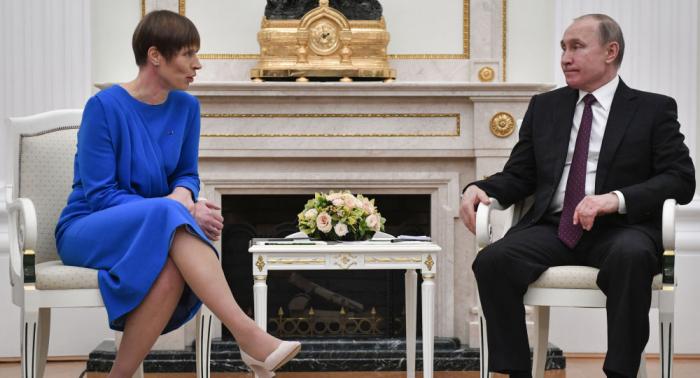 """""""Will nicht auf der Speisekarte stehen…"""": Estlands Präsidentin muss Treffen mit Putin rechtfertigen"""