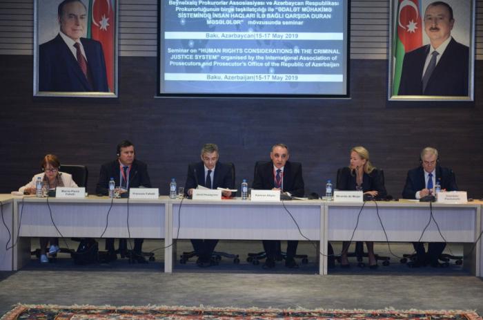 Bakıda insan haqlarına dair beynəlxalq seminar işə başlayıb - FOTOLAR