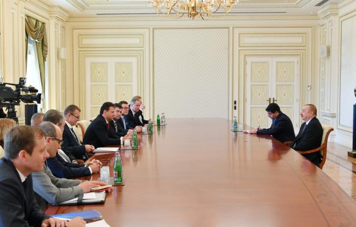 Azerbaijani President receives President of Chamber of Deputies ofCzechParliament -  UPDATED