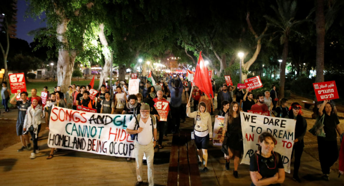 Cientos de israelíes se manifiestan contra la ocupación con motivo de Eurovisión