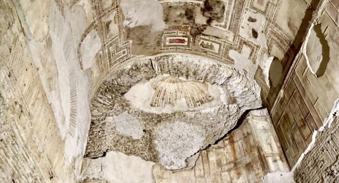 """Geheimes """"Sphinx-Zimmer"""" im Palast von Kaiser Nero in Rom entdeckt –   FOTOs"""
