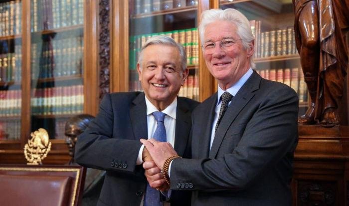 Richard Gere se reúne con López Obrador para hablar de derechos humanos