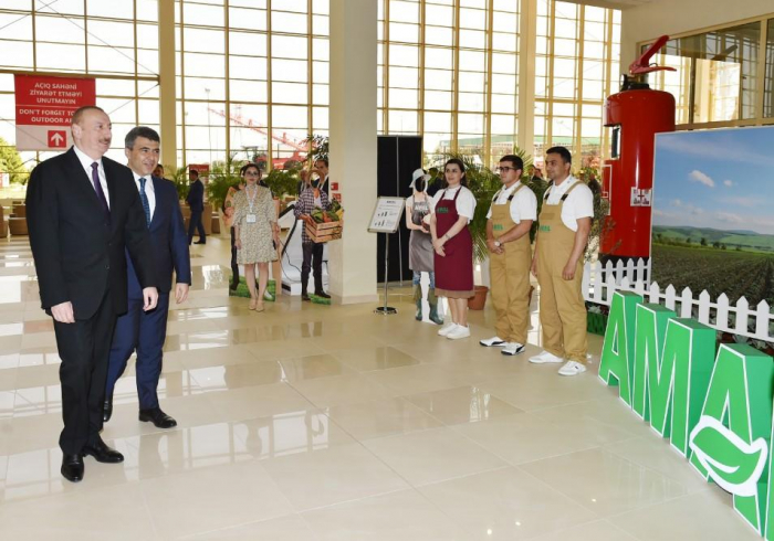 President Aliyev views 13th Azerbaijan International Agriculture exhibitions