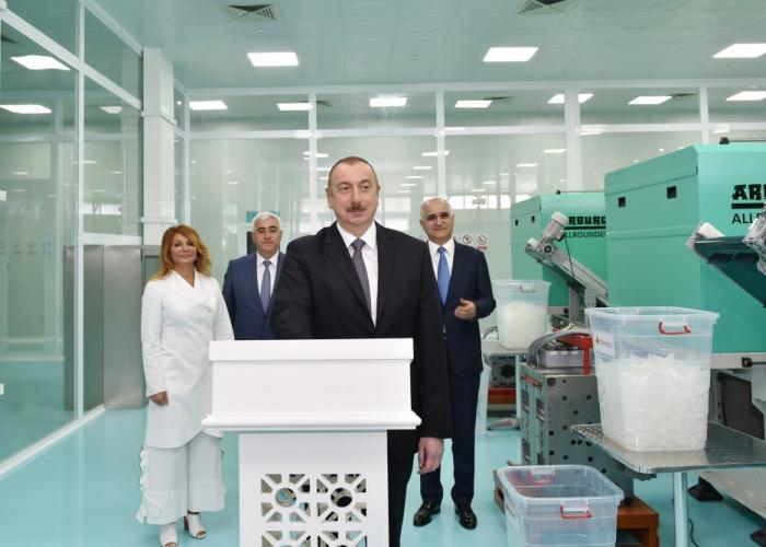 Prezident şpris zavodunun açılışında - FOTOLAR