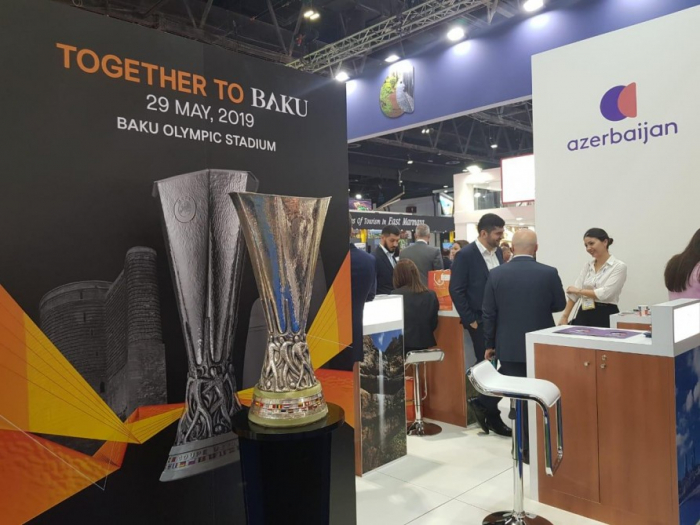UEFA Europa League trophy brought to Baku