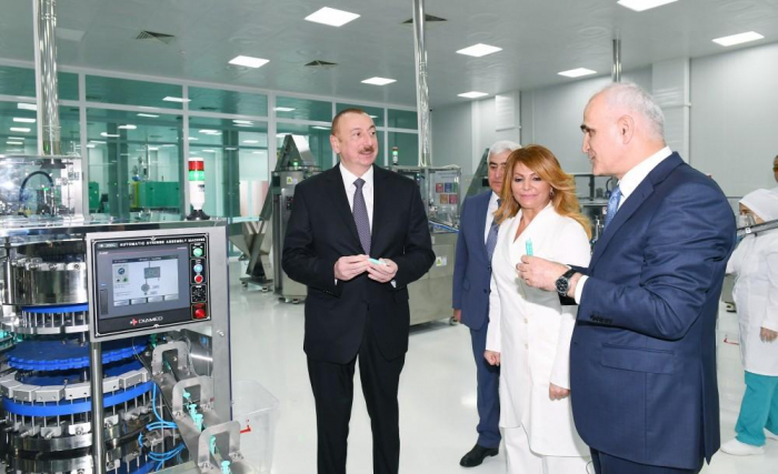 President Ilham Aliyev attends opening of syringe plant in Pirallahi Industrial Park