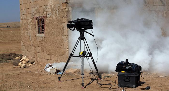 Russische Luftwaffe des C-Waffen-Einsatzes beschuldigen: Terrorgruppe plant Provokation in Idlib