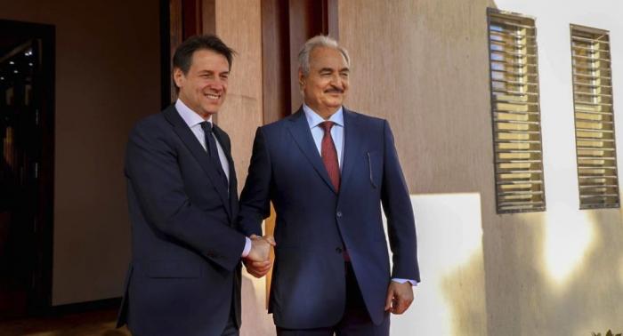 """""""Diplomatische Offensive"""": Italiens Premier Conte empfängt libyschen Feldmarschall Haftar"""