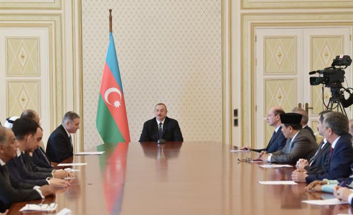 Ilham Aliyev:   Aserbaidschan unterstützt immer muslimische Länder