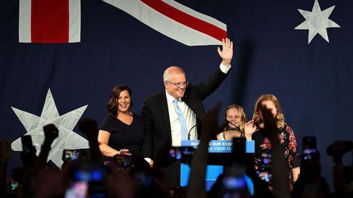 2019 Australia election: Morrison celebrates