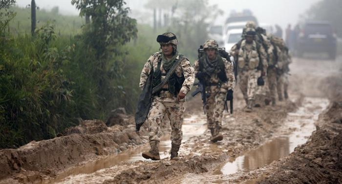 Siete heridos tras un ataque a un grupo de militares en Colombia