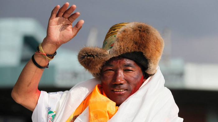 Nepali scales Everest record 24 times - with one more to go