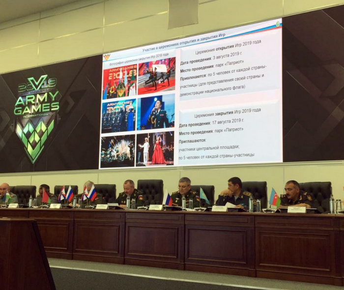 Azerbaijani MoD delegation attends next conference of Int'l Army Games 2019