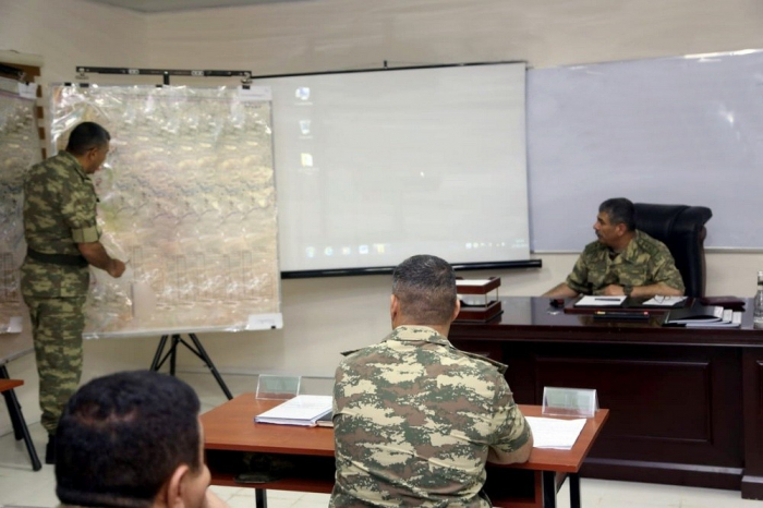 Azerbaijani Defense Minister gives instructions on military trainings