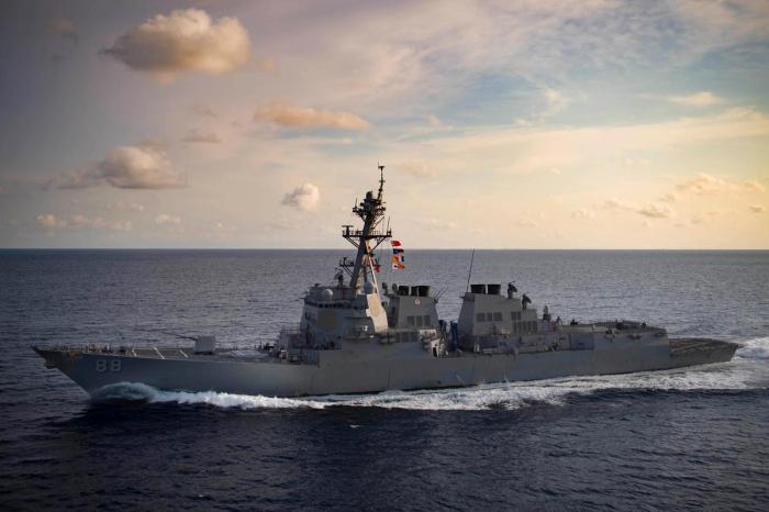 U.S. Navy sends two ships through strategic Taiwan Strait