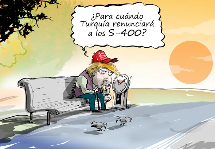 Dos semanas:     Trump toma asiento y espera a ver qué dice Turquía