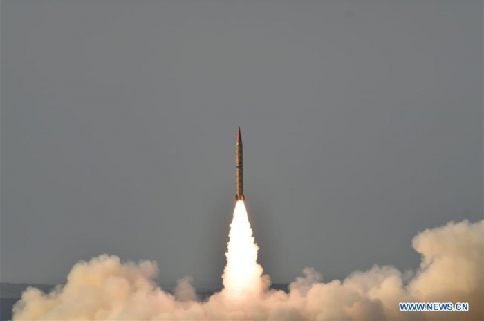 Pakistan conducts training launch of ballistic missile