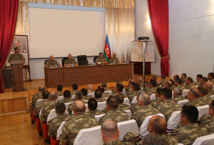 Azerbaijani Defense Minister gives instructions to Army