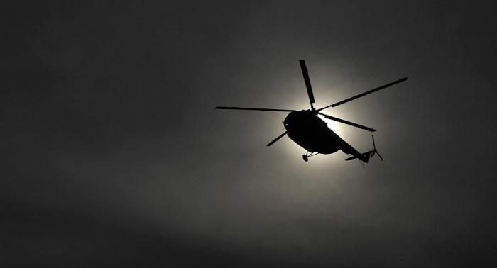 Cae helicóptero en el centro de México