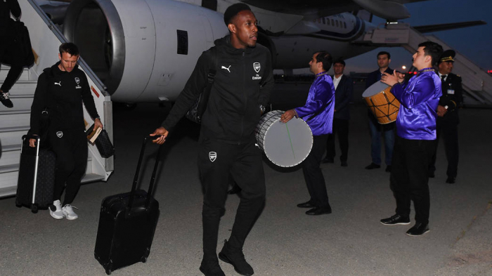 Players of Arsenal FC landed in Baku for Europa League final-  PHOTOS