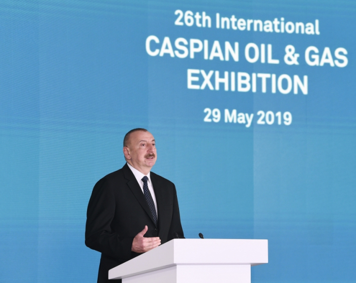 President Ilham Aliyev attends the opening of 26th International Caspian Oil and Gas Exhibition - UPDATED