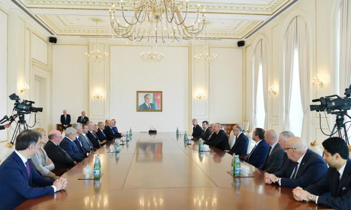 Ilham Aliyev a reçu la délégation de l
