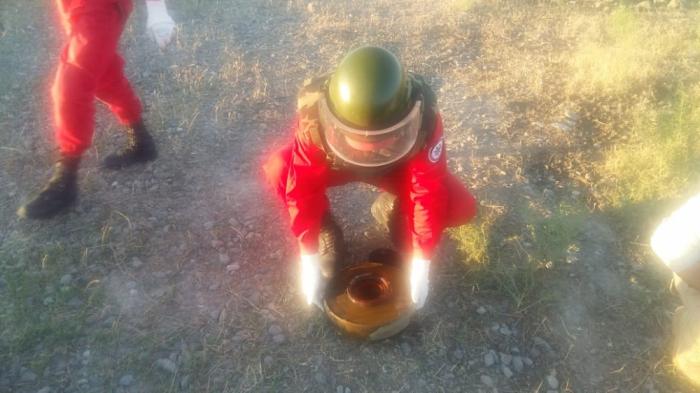 Yevlaxda tank əleyhinə mina tapılıb