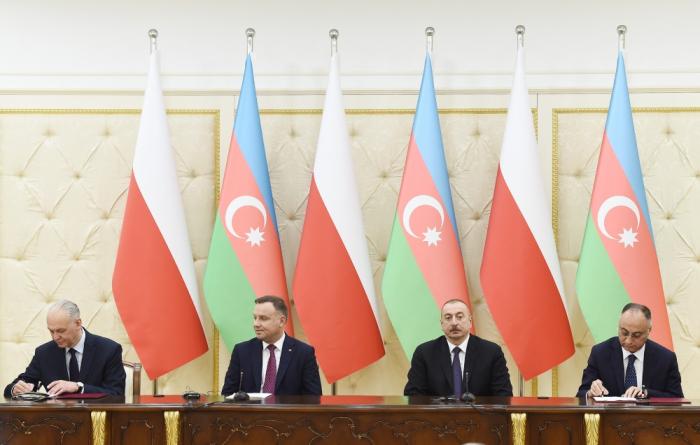 Azərbaycan-Polşa sənədləri imzalandı - FOTOLAR
