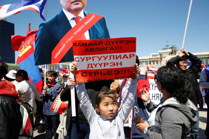 Thousands rally in Mongolia to call for government to step down