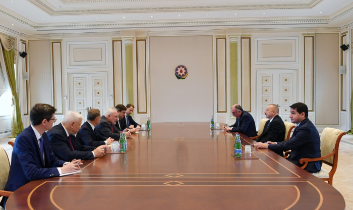President Ilham Aliyev receives OSCE MG co-chairs