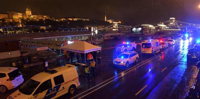 Trágico naufragio en el Danubio a su paso por Budapest