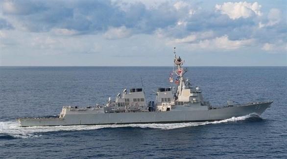مدمرة أمريكية تبحر في بحر الصين الجنوبي