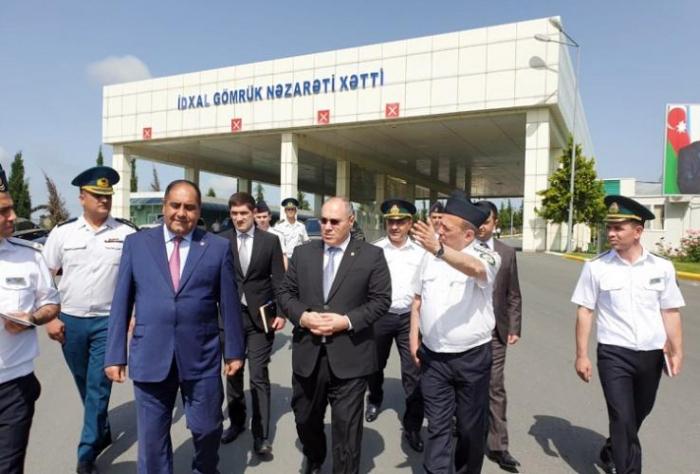 """Səfər Mehdiyev """"Mazımçay"""" gömrük postunda"""