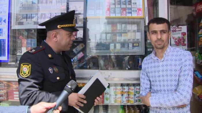 Polis azyaşlılara siqaret satanları cərimələyib